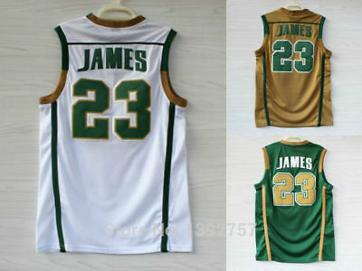 newest collection 629c9 81349 LEBRON JAMES ST. Vincent St. Mary Irish High School Basketball Jerseys - S  - 3XL