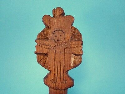 ORIGINAL RARE ANTIQUE 1800's. WOODEN CROSS BREAD PROSPHORA STAMP!!!' 8