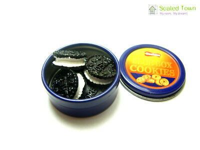 10 Miniature Oreo Sandwich Biscuit Chocolate Cookies Dollhouse Food Bakery Decor 7