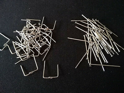 100pcs Silver Strait & Twisted Connector Parts-  for Chandelier Crystals Prisms