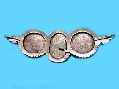 VERY RARE BEAUTIFUL ANTIQUE 1800s. SILVER NIELO BUCKLE CLASP SET!!! 6