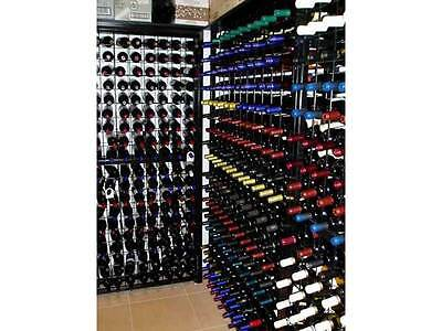 Steel Metal Wine Storage Rack Powder Coated Black over Galvanising 200 Bottles 2