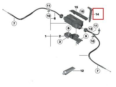 Bmw New Genuine X5 X6 Emergency Parking Brake Release Handle 7590395 4
