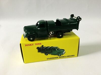 1/43 DINKY TOYS 25 VS STUDEBAKER BENNE a ORDURES PROTOTYPE Movable Cover New 9