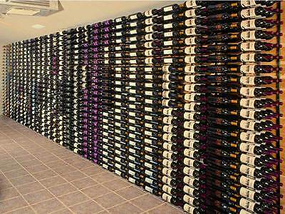 "Steel ""Strip"" Wine Storage Rack - 12 bottles per wall rack"