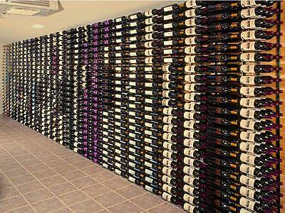 "Steel ""Strip"" Wine Storage Rack - 36 bottles per wall rack"