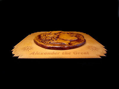 BEAUTIFUL ALEXANDER THE GREAT PORTRAIT TERRACOTTA RESEMBLING PLAQUE from MACEDON 2