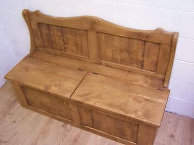 6Ft Wide 2 Seat Monks Storage Bench In Old Soli Rustic Pine We Can Make Any Size 2