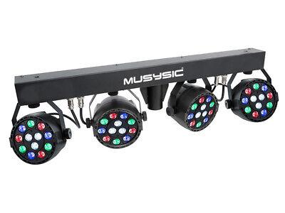 Complete Professional 4-Par Stage LED Lights DJ Band DMX System & Stand MU-L31A 2