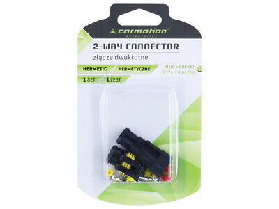 Carmotion Electrical 2-Way Connector Hermetic 1 Set Plug + Socket 2