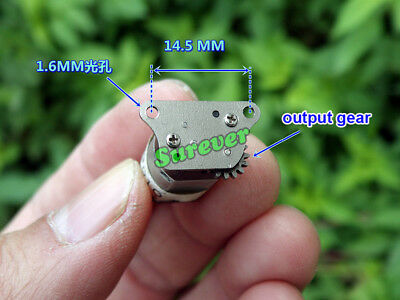 Mini N20 Full Metal Gear Reducer Reduction Motor DC 3V 3.7V 92RPM DIY Robot Car 4