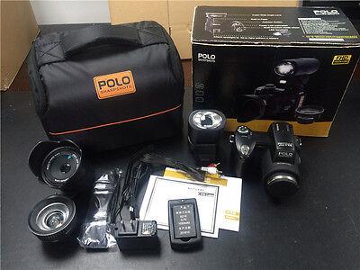 Appareil photo numérique POLO D7200 33MP 1080P +3 objectif large +projecteur LED 12
