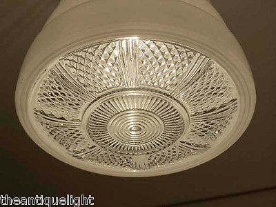 120 Vintage  Ceiling Light Lamp Fixture Re-Wired bath hall porch kitchen 6