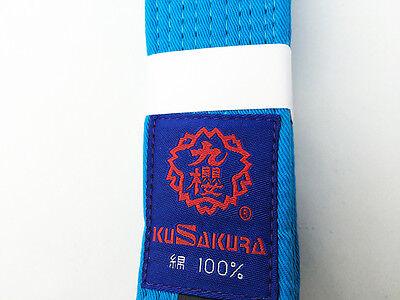 Mizuno JAPAN Japanese Judo gi OBI Belt Blue Ao 22JV9A18