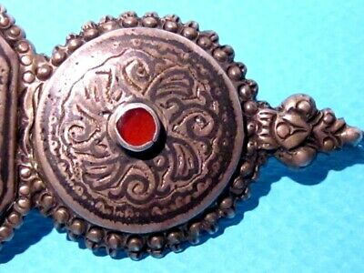 VERY RARE BEAUTIFUL ANTIQUE 1800s. SILVER NIELO BUCKLE CLASP SET!!! 4