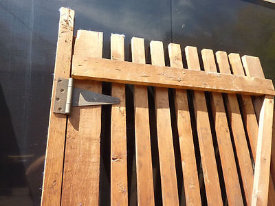 "PR victorian ATTIC slatted DOORS great for restoration or ART project 87 x 33.5"" 10"