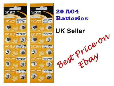 AG4 x20 SR626SW,377LR6261.5vALKALINE BUTTON/COIN CELL WATCH BATTERIES/BATTERY 3
