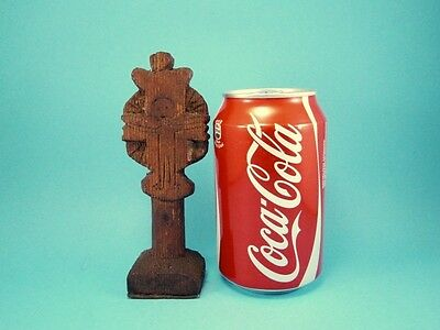 ORIGINAL RARE ANTIQUE 1800's. WOODEN CROSS BREAD PROSPHORA STAMP!!!' 9