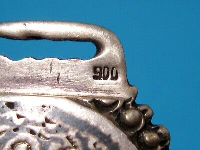 VERY RARE BEAUTIFUL ANTIQUE 1800s. SILVER NIELO BUCKLE CLASP SET!!! 8