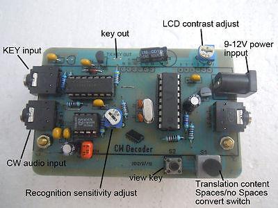 CW Decoder Morse Code Reader + CW Signal Generator /PS2 keyboard/Ham Radio 3