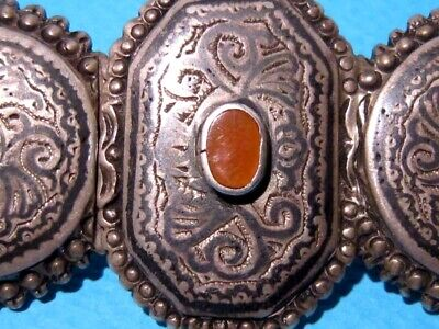 VERY RARE BEAUTIFUL ANTIQUE 1800s. SILVER NIELO BUCKLE CLASP SET!!! 3