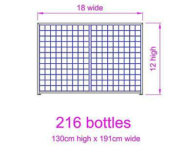 Galvanised Steel Metal Wine Storage Rack 216 Bottles 5