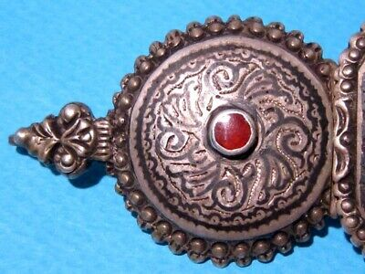 VERY RARE BEAUTIFUL ANTIQUE 1800s. SILVER NIELO BUCKLE CLASP SET!!! 2