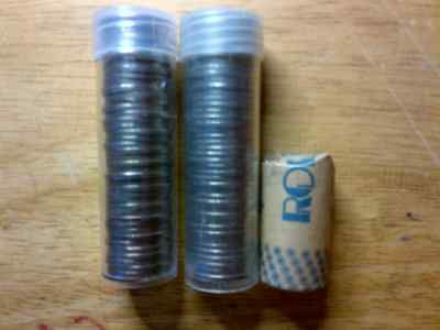 Jefferson Nickels Set 1950 - 2017 in Plastic Coin Tubes; PDS Mints