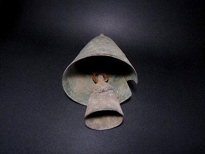 OUTSTANDING HUGE ANTIQUE 1600-1800's. OTTOMAN BRONZE DOUBLE BELL!!! 3