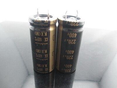 1 Nichicon 400V 220UF KX series for Audio HI-FI Japan Made HI-FI Audio Capacitor