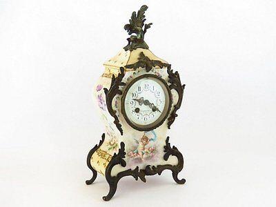 Rare Late Nineteenth Century Charles Jacques Porcelain Cherub Clock ~Exquisite~ 6