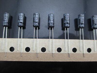 100pcs SAMYOUNG SHL 10mfd 16v 10uf 5x11mm electrolytic Capacitor  85°C