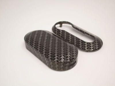 Guscio Cover Chiave Carbon Look Abarth 500 Scocca Telecomando Key Shell 2