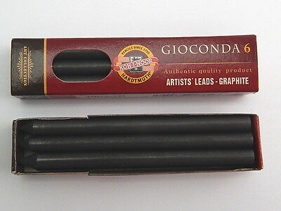 5.6mm x 80mm Koh-I-Noor 4864 Graphite Leads Pack of 6