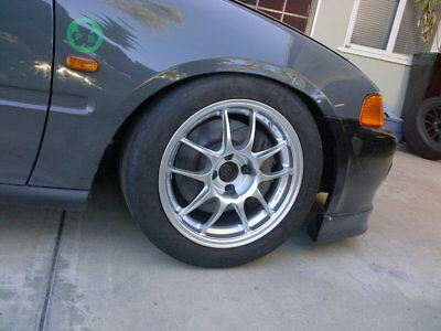 "ENKEI PF01 16x7/"" Racing Wheel Wheels 4x100 Offset 43 Silver"