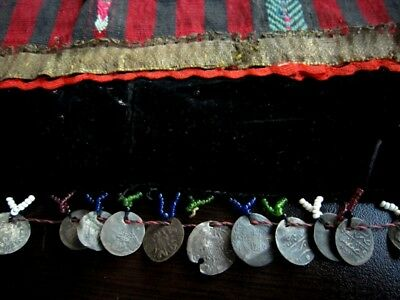 RARE ANTIQUE PINAFORE WITH 81 pcs. ANTIQUE ISLAMIC SILVER COINS  and 1 AUSTRIAN! 11
