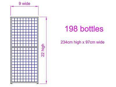 198 Bottle Steel Metal Wine Storage Rack Powder Coated Black over Galvanising 5