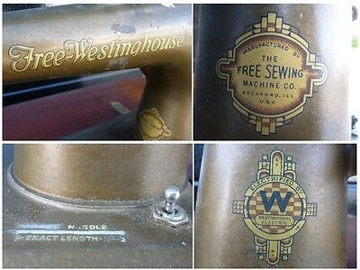 Antique 'Free Westinghouse' Sewing Machine Type E in Ornate Cabinet 9