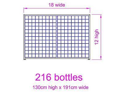 216 Bottle Steel Metal Wine Storage Rack Powder Coated Black over Galvanising 4