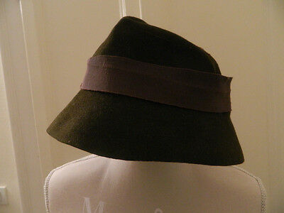 2e5058ff084 CAPPELLO VINTAGE IN lana marrone brown vtg wool hat - EUR 8