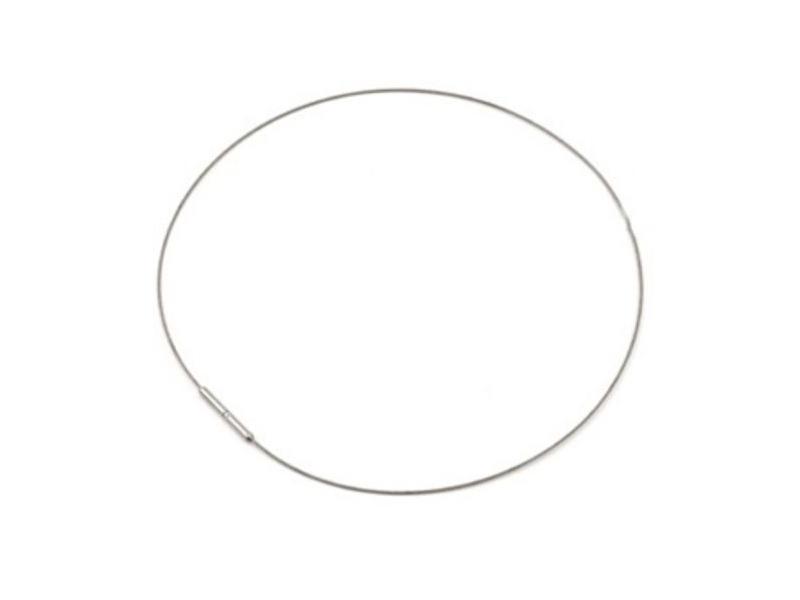 Seil für Anhänger 0801-01 BOCCIA Damenschmuck 42cm Titan// Kautschuk schwarz