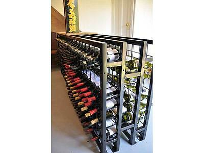 216 Bottle Steel Metal Wine Storage Rack Powder Coated Black over Galvanising 8