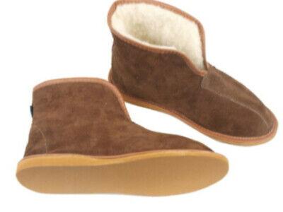 Pantoffeln aus Naturleder und Schafwolle Paar Mokassins Hausschuhe für Damen