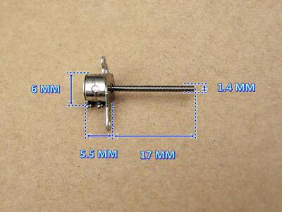 Nidec 2-phase 4-wire Mini 6mm Stepper Motor 17mm Long Shaft Linear Lead Screw 8