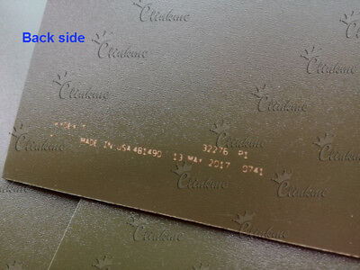 """1.5mm (0.06"""") Thick multicolor KYDEX Sheet Thermoplastic Forming with brass nail 8"""