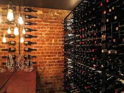 216 Bottle Powder Coated Black Galvanised Steel Metal Wine Storage Rack