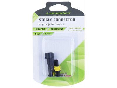 Carmotion Electrical Single Connector Hermetic 1 Set Plug + Socket 2