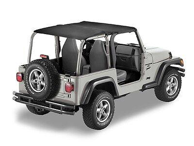 Jeep Bimini Top >> 1997 2006 Jeep Wrangler Safari Extended Bikini Bimini Top In Black