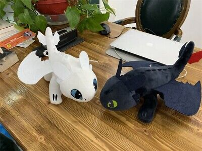 """10""""/14"""" UK How to Train Your Dragon 3 Toothless Night Fury Light Fury Plush Doll 7"""