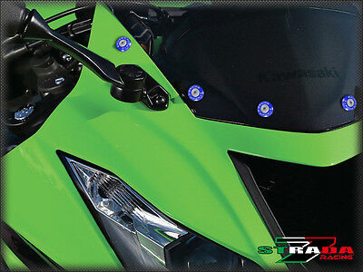 Strada 7 Racing CNC Windscreen Bolts M5 Wellnuts Set Gold For Triumph Daytona 675 R